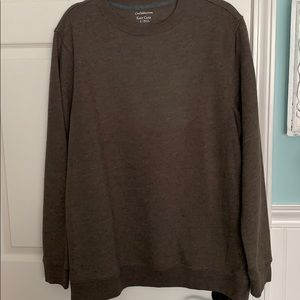 Large Croft & Barrow brown sweatshirt
